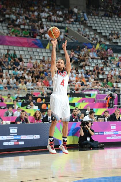 Stephen Curry was a member of the Team USA Group that captured gold at the 2014 FIBA World Cup in Spain. (Garrett Ellwood/Getty Images)