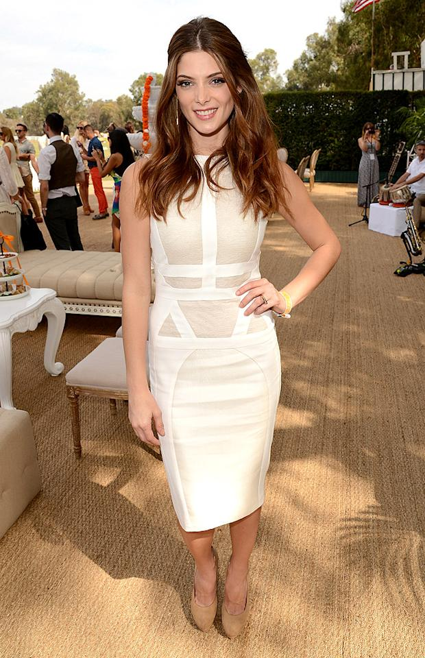 "Raise your champagne-filled glass to ""Twilight"" co-star Ashley Greene, who rocked this paneled Antonio Berardi dress and nude Giuseppe Zanotti heels at the Third Annual Veuve Clicquot Polo Classic. Bottoms up! (10/6/2012)<br><br><a target=""_blank"" href=""http://omg.yahoo.com/news/mad-magazine-spoofs-breaking-dawn-access-exclusive-211314291.html"">MAD Magazine Spoofs ""Breaking Dawn""</a>"