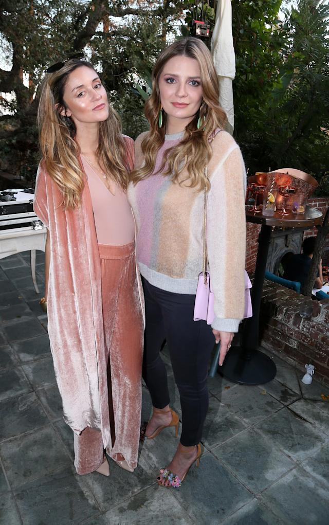 "Caroline D'Amore and Mischa Barton attend the PREY SWIM ""Summer in December"" Fashion Show hosted by Audrina Patridge on Dec. 12, 2018. (Photo: Gabriel Olsen/Getty Images for Absolut Elyx )"