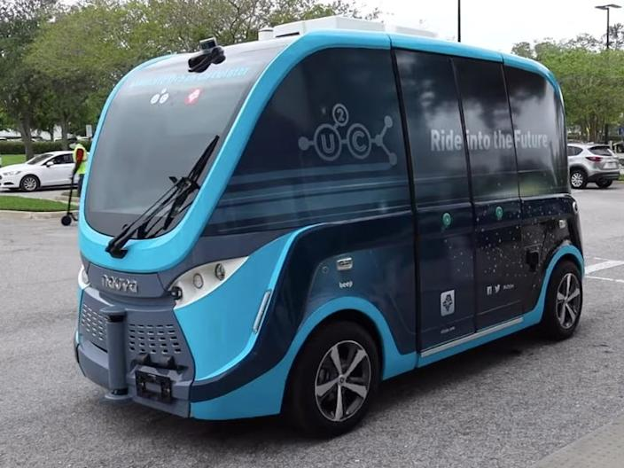 The autonomous shuttle being used by the Mayo Clinic.