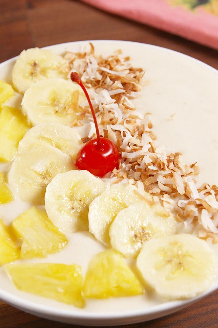 "<p>The breakfast-approved piña colada 😉</p><p>Get the recipe from <a href=""https://www.delish.com/cooking/recipe-ideas/recipes/a51092/pina-colada-smoothie-bowls-recipe/"" rel=""nofollow noopener"" target=""_blank"" data-ylk=""slk:Delish"" class=""link rapid-noclick-resp"">Delish</a>. </p>"