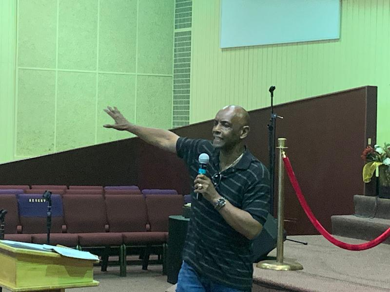 Ohio state Sen. Cecil Thomas speaks to community members on July 29, 2019 at New Prospect Baptist Church in Cincinnati.