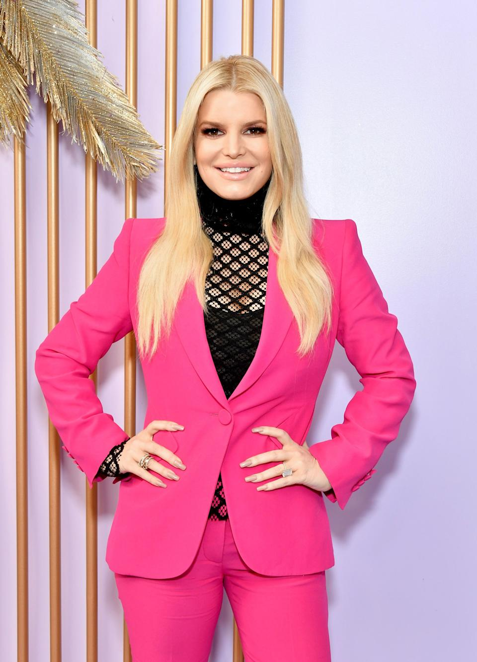 Fans are alleging Jessica Simpson has had dermal fillers after the star shared a new family photo over the Easter weekend. (Photo by Amy Sussman/Getty Images)