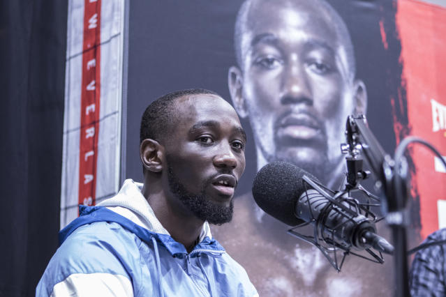 Terence 'Bud' Crawford was the 2017 Yahoo Sports Fighter of the Year in boxing. (Photo by Bill Tompkins/Getty Images)