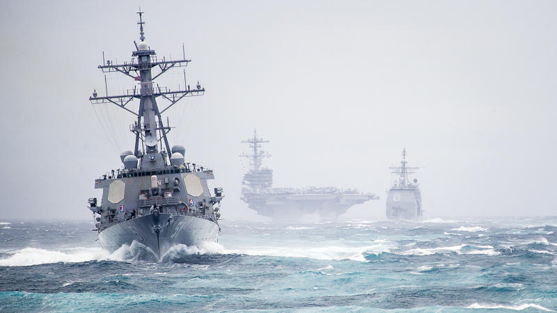 Here's the Location of Every American Carrier and Amphibious Assault Ship Right Now
