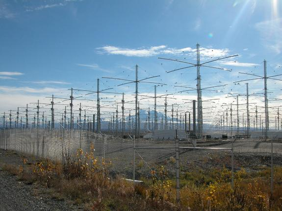 The HAARP antenna array near Gakona, Alaska.