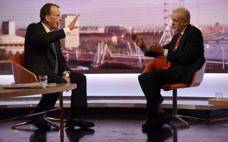 Jeremy Corbyn on The Andrew Marr Show - Credit: Jeff Overs/BBC/PA