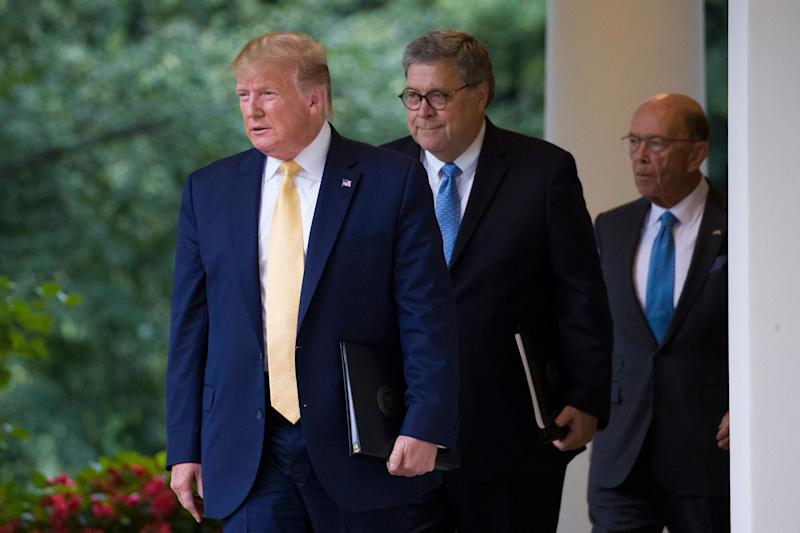 """""""He's acting simply as a henchman of the president,"""" Sen. Richard Blumenthal (D-Conn.) said of Attorney General William Barr. (Photo: ASSOCIATED PRESS)"""
