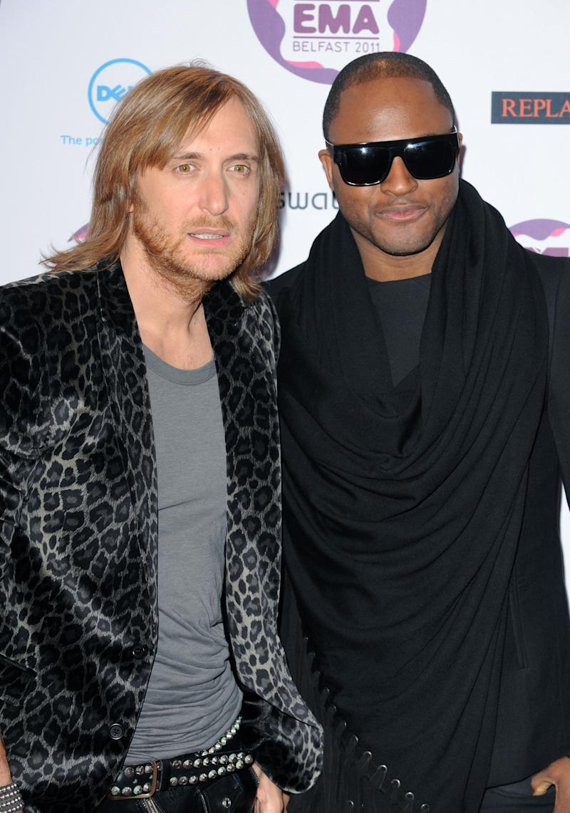 Taio Cruz and David Guetta at The MTV European Music Awards 2011, The Odyssey Arena, Belfast.