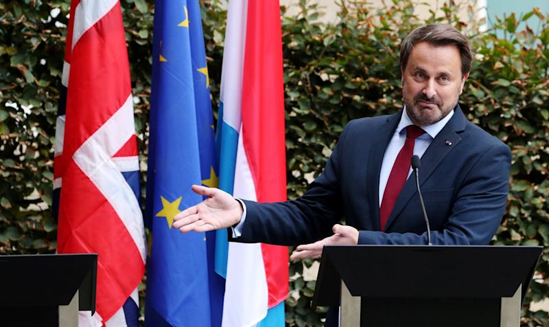 Luxembourg's Prime Minister Xavier Bettel went ahead without Boris Johnson: REUTERS