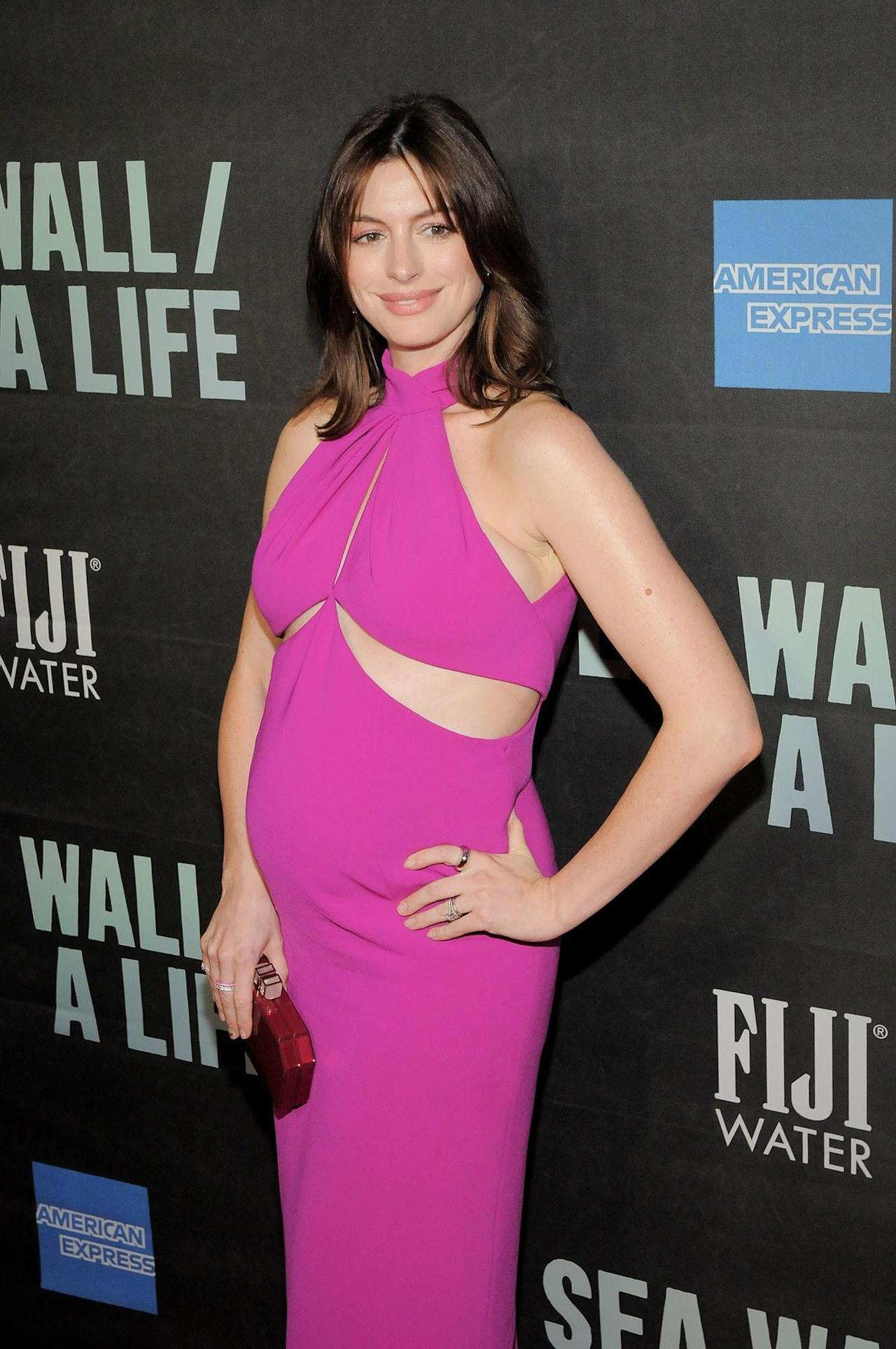 Anne Hathaway Shows Off French Girl Hair—And a Growing Baby Bump