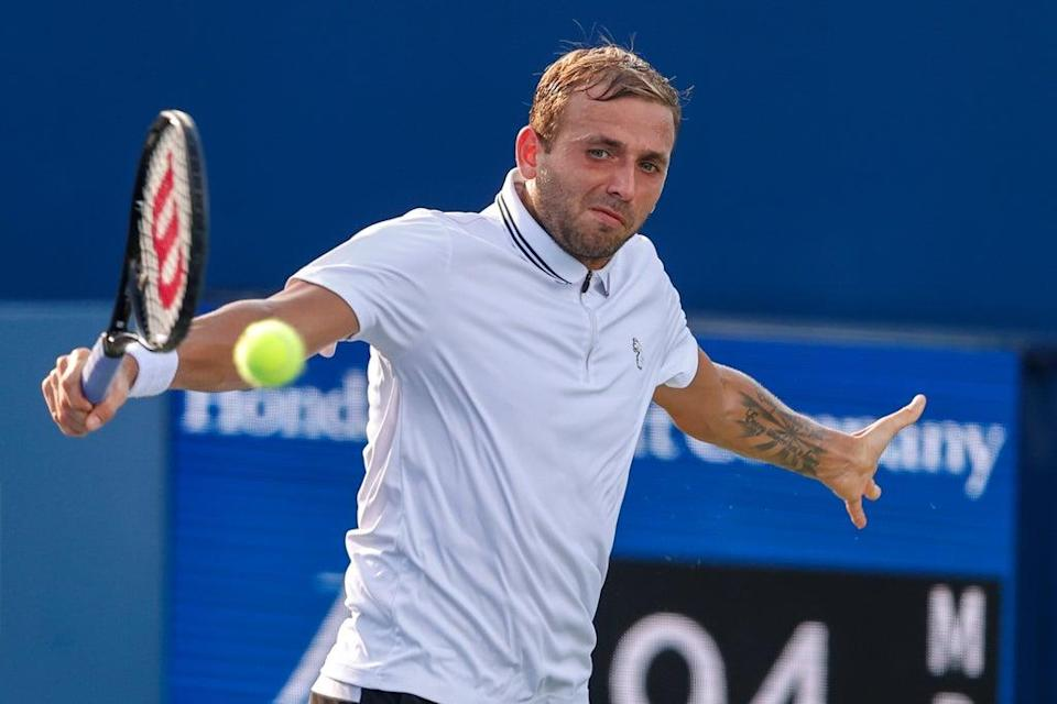 Dan Evans reached the third round of the US Open (Nell Redmond/AP) (AP)