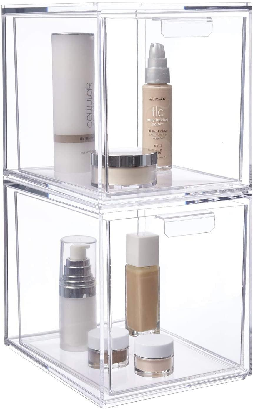 <p>They'll be able to see all their favorite products with ease when they put them in this <span>Stackable Cosmetic Organizer</span> ($26).</p>