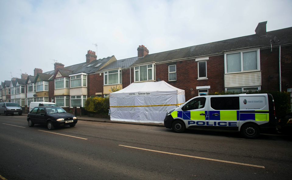 The victims were killed in Exeter, Devon, over the space of a few hours (Picture: SWNS)