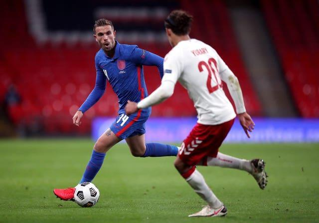 Jordan Henderson was part of the England side that lost to Denmark last October
