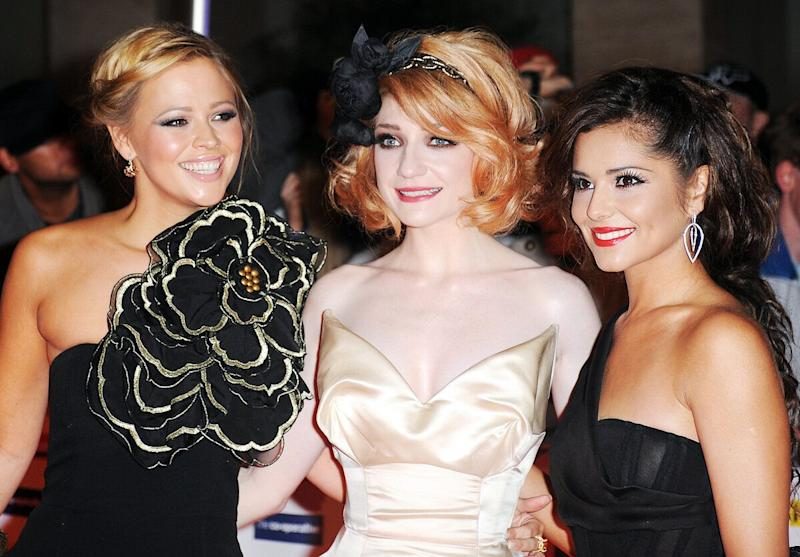 Kimberley Walsh, Nicola Roberts and Cheryl Cole of Girls Aloud arriving for the Daily Mirror's Pride Of Britain Awards 2009 at the Grosvenor House Hotel in central London.