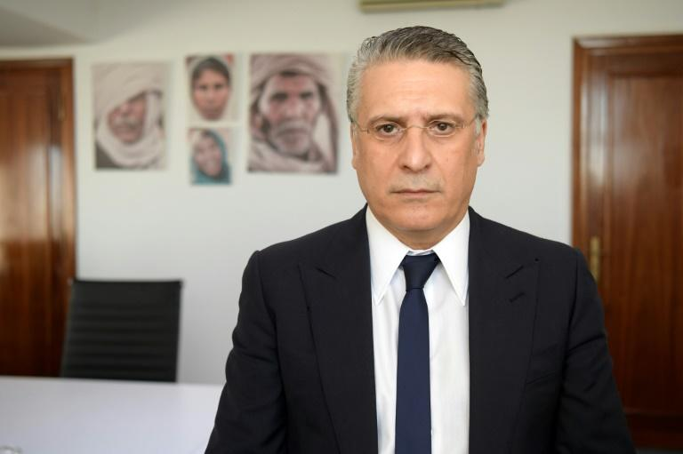 Tunisian media mogul and presidential candidate Nabil Karoui has been in jail since August 23 (AFP Photo/FETHI BELAID)