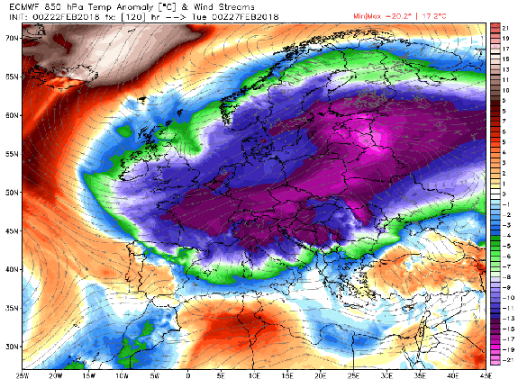 "<img alt=""""/><p>In what seems to be becoming an annual occurrence, temperatures at the North Pole are about to reach or possibly exceed the freezing point this week as the North Atlantic and the North Pacific Oceans inject unusually mild air into the Arctic.</p> <p>Not coincidentally, Arctic sea ice is at record low levels, with a freak disappearance of ice off the western coast of Alaska, between Alaska and Russia. This vanishing of sea ice in the Bering Sea is exposing coastal communities in Alaska to storm surge flooding from typically fierce winter storms, particularly Little Diomede Island. </p> <div><p>SEE ALSO: <a rel=""nofollow"" href=""https://mashable.com/2018/02/14/arctic-ship-eduard-toll-navigates-northern-sea-route-without-icebreaker/?utm_campaign=Mash-BD-Synd-Yahoo-Science-Full&utm_cid=Mash-BD-Synd-Yahoo-Science-Full"">Gas-filled vessel barrels solo through pathetic Arctic sea ice during dead of winter</a></p></div> <p>Videos from the island, which straddles the border with Russia show high waves slamming into the coastline, when normally there would be a sheet of ice protecting the island from high waves during the winter. </p> <div><div><blockquote> <p>This is what record low sea ice in the Arctic means on the ground: stunning FB video taken Tuesday Feb 20 from Little Diomede, Alaska, smack in the middle of Bering Strait. Scary stuff, on many levels. <a rel=""nofollow"" href=""https://twitter.com/hashtag/akwx?src=hash&ref_src=twsrc%5Etfw"">#akwx</a> <a rel=""nofollow"" href=""https://twitter.com/hashtag/Arctic?src=hash&ref_src=twsrc%5Etfw"">#Arctic</a> <a rel=""nofollow"" href=""https://twitter.com/Climatologist49?ref_src=twsrc%5Etfw"">@Climatologist49</a> <a rel=""nofollow"" href=""https://twitter.com/ZLabe?ref_src=twsrc%5Etfw"">@ZLabe</a> <a rel=""nofollow"" href=""https://t.co/e2Hb4Rvgry"">https://t.co/e2Hb4Rvgry</a></p> <p>— Rick Thoman (@AlaskaWx) <a rel=""nofollow"" href=""https://twitter.com/AlaskaWx/status/966457683430719489?ref_src=twsrc%5Etfw"">February 21, 2018</a></p> </blockquote></div></div> <div><p></p></div>  <p>It's as if someone opened the planet's refrigerator door, causing the cold air to drain out of the normally frigid region, bringing cold to the Western U.S. and Eurasia but leaving the air within the fridge itself unusually warm. In Europe, winds known as ""The Beast from the East"" will transport frigid temperatures from Russia and Scandinavia to the west, into Germany, France, and the UK, along with potential snowfall.</p> <p>In part, this is because of a <a rel=""nofollow"" href=""https://mashable.com/2018/02/15/polar-vortex-split-stratospheric-warming-snow-cold-europe-us/?utm_campaign=Mash-BD-Synd-Yahoo-Science-Full&utm_cid=Mash-BD-Synd-Yahoo-Science-Full"">split in the polar vortex</a> — that much hyped circulation of air at upper levels of the atmosphere that keeps the coldest air penned in across the Far North. One ""sister vortex"" has set up across Canada and the Western U.S., with another established in Eurasia. Many of these areas are colder than the Arctic is right now. </p> <div><div><blockquote> <p>February? This is crazy. Retreat of sea ice in the Bering Sea continues - well below the previous record low in the satellite era. <a rel=""nofollow"" href=""https://t.co/9UoqZvaFr2"">pic.twitter.com/9UoqZvaFr2</a></p> <p>— Zack Labe (@ZLabe) <a rel=""nofollow"" href=""https://twitter.com/ZLabe/status/966343051210735616?ref_src=twsrc%5Etfw"">February 21, 2018</a></p> </blockquote></div></div> <div><div><blockquote> <p>No surprises here that the anomalous ""warmth"" (relative to average) continues in the high <a rel=""nofollow"" href=""https://twitter.com/hashtag/Arctic?src=hash&ref_src=twsrc%5Etfw"">#Arctic</a> today (>80°N latitude). <br><br>Red line is this year with thin blue lines [1958] to yellow lines [2017] for each year. Average is the bold, light blue line. (<a rel=""nofollow"" href=""https://t.co/kO5ufUWrKq"">https://t.co/kO5ufUWrKq</a>) <a rel=""nofollow"" href=""https://t.co/101if2NrVu"">pic.twitter.com/101if2NrVu</a></p> <p>— Zack Labe (@ZLabe) <a rel=""nofollow"" href=""https://twitter.com/ZLabe/status/966391100276486144?ref_src=twsrc%5Etfw"">February 21, 2018</a></p> </blockquote></div></div> <p>Consider some of these startling statistics. Arctic sea ice is at its lowest observed level since the satellite era began in 1979. The magnitude and pace of the sea ice decline observed during the 21st century, along with the warming of the ocean surface throughout the region, has been shown to be <a rel=""nofollow"" href=""http://www.arctic.noaa.gov/Report-Card/Report-Card-2017/ArtMID/7798/ArticleID/690/Paleoceanographic-Perspectives-on-Arctic-Ocean-Change"">unprecedented in the last 1,500 years</a>.</p> <p>In the Bering Sea in particular, sea ice has been at record low levels for much of the fall and winter. As if spooked by a ghost, much of the ice that had been covering the region vanished during February, a time when it would normally be at its peak extent and thickness.</p> <p><img title=""Computer model projection showing a pulse of above average temperatures near the North Pole on Feb. 26, 2018."" alt=""Computer model projection showing a pulse of above average temperatures near the North Pole on Feb. 26, 2018.""></p> <p>Computer model projection showing a pulse of above average temperatures near the North Pole on Feb. 26, 2018.</p><div><p>Image:  weatherbell analytics.</p></div><p>Temperatures in parts of the Arctic — including the North Pole — could rise to 45 degrees Fahrenheit above average this week. Already, the northernmost land-based weather station in Greenland, known as Cape Morris Jesup, rose above the freezing mark of 32 degrees Fahrenheit, or 0 degrees Celsius, five times since Feb. 16. That weather station is just about 400 miles from the North Pole. </p> <p>Previously, temperatures had only exceeded the freezing point at this weather station for brief periods during February in 2011 and 2017. So far this February, temperatures exceeded 32 degrees Fahrenheit on Feb. 16, 17, 18, 20 and 21, a warm streak that is incredibly rare.</p> <p>The temperatures in the high Arctic, to the north of Greenland, could reach 45 degrees Fahrenheit above average early next week, at the same time as temperatures will plunge to about 35 degrees Fahrenheit below average across nearly all of Europe, from Moscow to London. </p> <p><img title=""Temperature anomaly projection for Europe on Tuesday, Feb. 27, 2018, showing the widespread cold snap."" alt=""Temperature anomaly projection for Europe on Tuesday, Feb. 27, 2018, showing the widespread cold snap.""></p> <p>Temperature anomaly projection for Europe on Tuesday, Feb. 27, 2018, showing the widespread cold snap.</p><div><p>Image:  weatherbell analytics.</p></div><p>Typically, there is a high amount of variability to Arctic weather, even in the winter when there is 24 hours of darkness, since storm systems can transport different air masses into the region that alter temperatures significantly. </p> <p>However, what has been happening this year is downright strange, although it's in keeping with what we'd expect to see as the Arctic warms at more than twice the rate of the rest of the world, in response to the rising amount of greenhouse gases in the atmosphere. </p> <p>In fact, a study published in Nature about a 2015 sudden polar warming event found that <a rel=""nofollow"" href=""https://mashable.com/2017/02/06/storm-will-warm-north-pole-melting-point/?utm_campaign=Mash-BD-Synd-Yahoo-Science-Full&utm_cid=Mash-BD-Synd-Yahoo-Science-Full"">these events are growing more intense</a>, meaning that the temperature extremes are getting more extreme, especially when compared to the overall rate of Arctic warming.</p> <p>Scientists studying the Arctic climate have sounded the loudest alarms about how quickly humans are altering the climate. This winter, coupled with some of the extreme warming events during the past few winter seasons, is driving that point home even further. </p> <div> <h2><a rel=""nofollow"" href=""https://mashable.com/2018/01/08/bomb-cyclone-how-rare/?utm_campaign=Mash-BD-Synd-Yahoo-Science-Full&utm_cid=Mash-BD-Synd-Yahoo-Science-Full"">WATCH: How the 'bomb cyclone' formed to slam the East Coast</a></h2> <div> <p><img alt=""Https%3a%2f%2fblueprint api production.s3.amazonaws.com%2fuploads%2fvideo uploaders%2fdistribution thumb%2fimage%2f84008%2fddefd094 2d10 4d03 839a ebf9dbc4290f""></p>   </div> </div>"