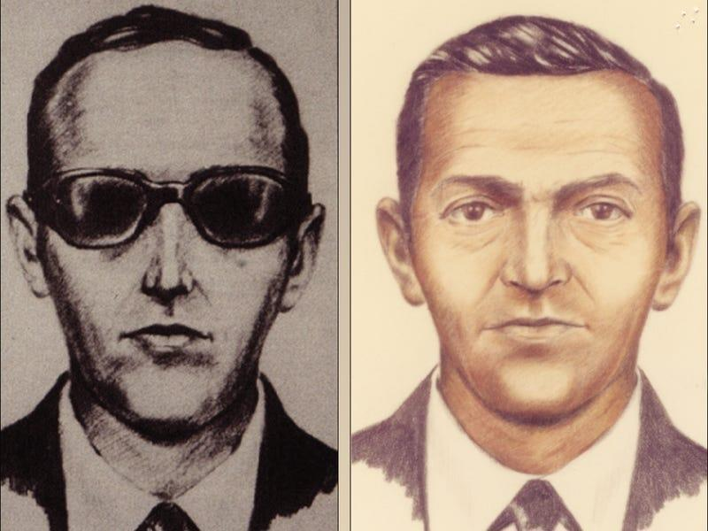 Artist sketches released by the FBI of a man calling himself D.B. Cooper, who vanished in 1971 with $200,000 in stolen cash after hijacking a commercial airliner over Oregon, U.S.  FBI/Handout via Reuters