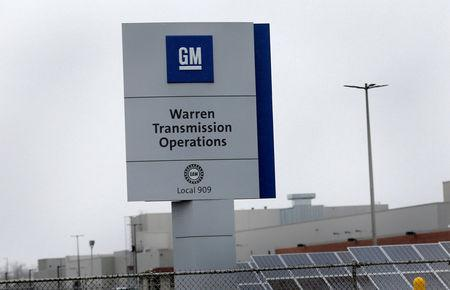 A sign for General Motors Warren Transmission Operations plant is seen in Warren, Michigan, U.S. November 26, 2018. REUTERS/Rebecca Cook