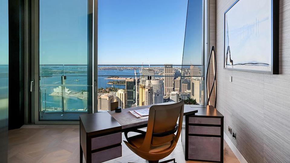 A desk with views of the Sydney Opera House. - Credit: Photo: Tate Martin