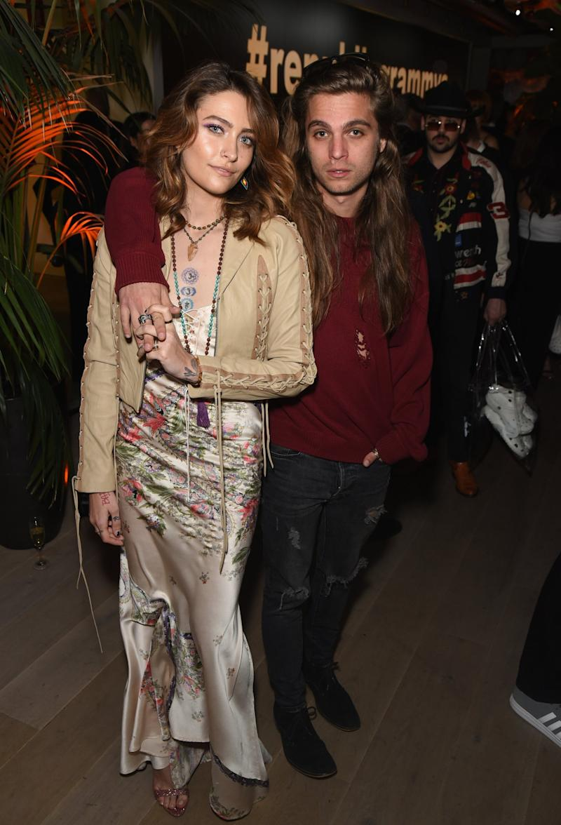 Paris Jackson and Gabriel Glenn at the Republic Records party (Getty Images)