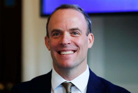 """FILE PHOTO: Dominic Raab attends """"A Better Deal"""" event in London"""