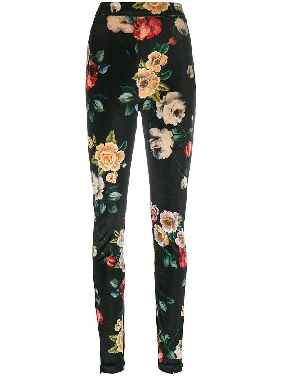 Pair it with tailored floral trousers like this perfect pair from Attico.