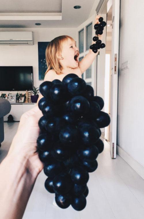 A mum from Turkey has recently gone viral on Instagram after sharing hilarious snaps of her daughter Stefani, 3, 'dressed' in various fruit and vegies.