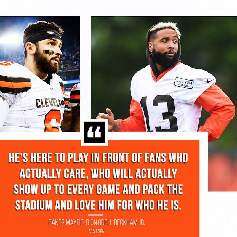Baker Mayfield on Odell Beckham Jr.