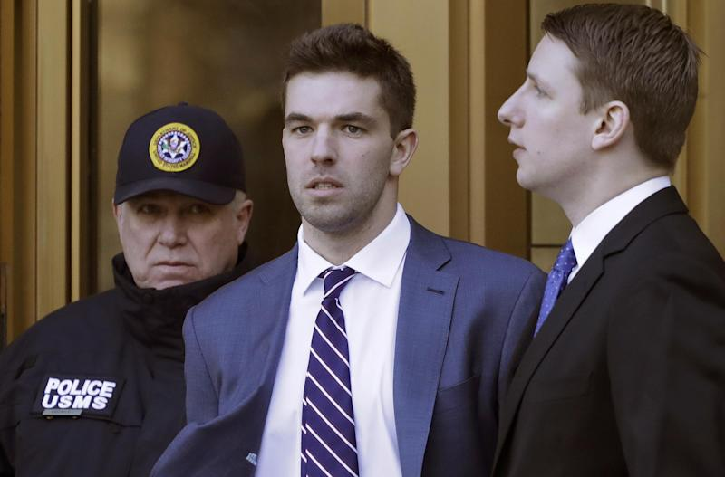 Fyre Festival promoter Billy McFarland leaves federal court after pleading guilty to wire fraud charges (AP)