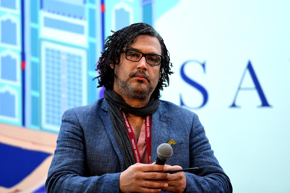 JAIPUR, INDIA  JANUARY 26: British Nigerian writer, broadcaster, presenter and film-maker David Olusoga during The World's War: Forgotten Soldiers of Empire session at the third day of ZEE Jaipur Literature Festival 2019, at Diggi Palace, on January 26, 2019 in Jaipur, India. (Photo by Amal KS/Hindustan Times via Getty Images)