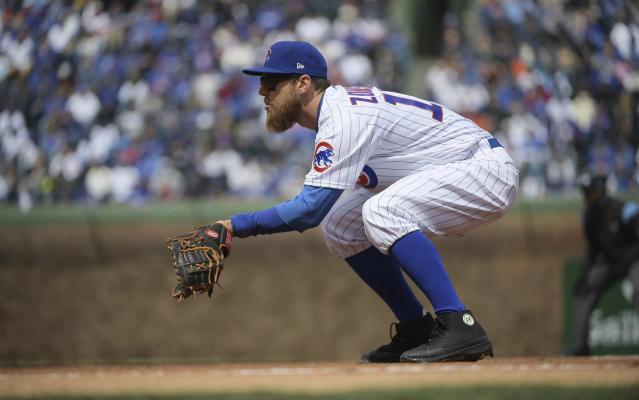 Ben Zobrist was fined earlier this season by Major League Baseball for his black cleats. (AP)