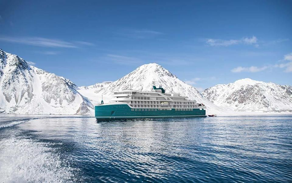 A rendering of Swan Hellenic's new expedition ship, currently being built and due to launch in November 2021