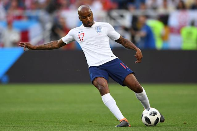 Fabian Delph played for England against Belgium in the 2018 World Cup group stage, but left the squad prior to Tuesday's Round of 16 match. (Getty)