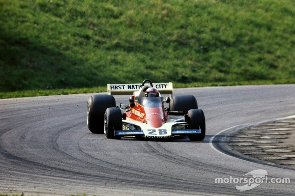"John Watson heads to victory in the Penske PC4 Ford at the Austrian GP in 1976. <span class=""copyright"">Ercole Colombo</span>"