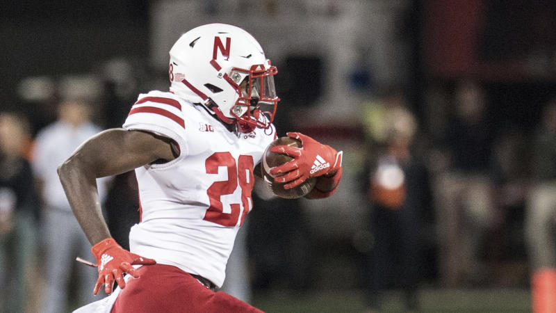 Nebraska running back Maurice Washington (28) in the second half of an NCAA college football game between Illinois and Nebraska, Saturday, Sept.21, 2019, in Champaign, Ill. (AP Photo/Holly Hart)