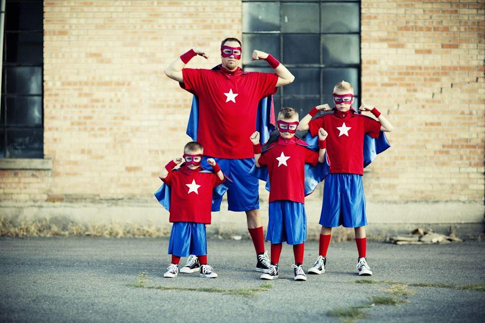 <p>And mom? She can be superwoman — the ultimate heroine of all female heroes! </p>