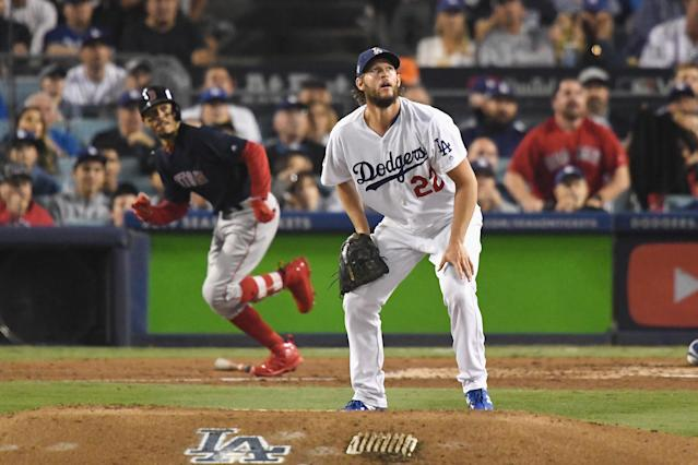 Clayton Kershaw allowed three home runs in what could be his last start for the Los Angeles Dodgers. (Getty Images)