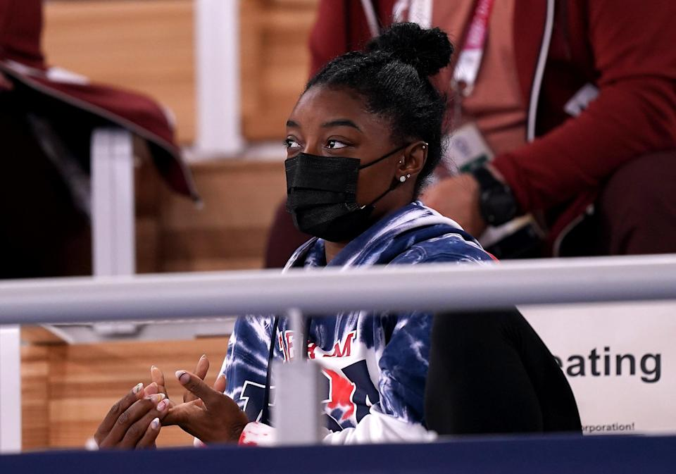 Simone Biles has thanked friends and family for their support (Mike Egerton/PA) (PA Wire)