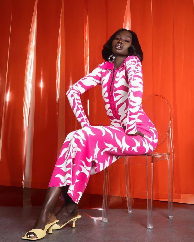 """<p>Hanifa's 3D fashion show changed the game, last year, and ever since the brand has continued to make waves. Utilising captivating designs, bold colours and unique textures, the brand's feminine designs illuminate natural curves and are available in XS to 3X.</p><p><a href=""""https://www.instagram.com/p/CNS2wBvHbuD/"""" rel=""""nofollow noopener"""" target=""""_blank"""" data-ylk=""""slk:See the original post on Instagram"""" class=""""link rapid-noclick-resp"""">See the original post on Instagram</a></p>"""
