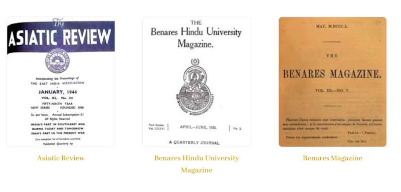 The Ideas of India website is a database of Indian periodicals from the 19th and 20th centuries. (Photo: Ideas of India website. )
