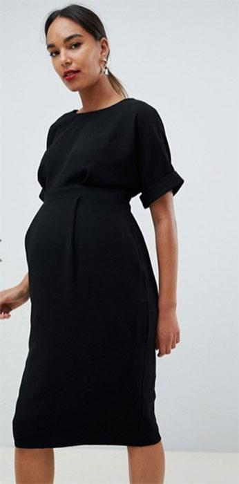 2480c2cfa55 Hurry – Markle s black ASOS maternity dress is back in stock!