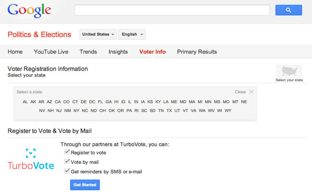 Register to Vote With Google