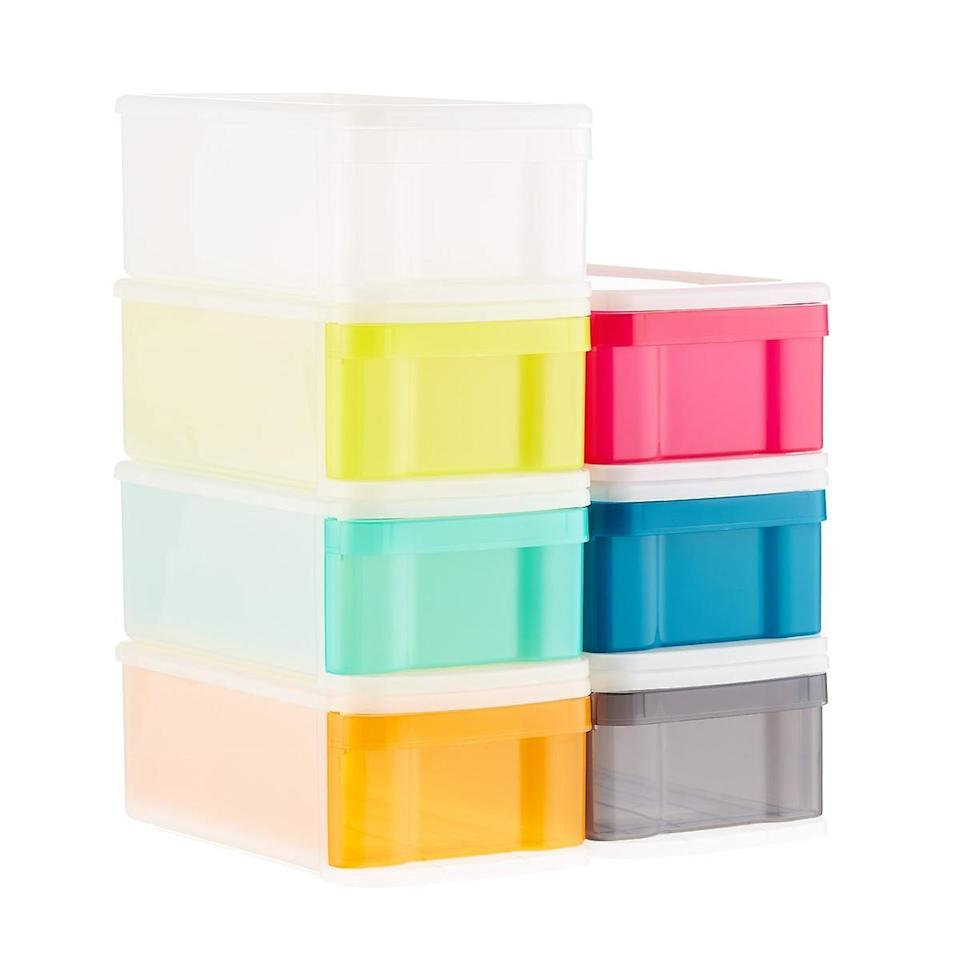 <h2>Small Tint Stackable Storage Drawer</h2><br>For the organized new mom, these babies are perfect for toys.<br><br><br><br><br><br><br><br><br><br><br><br><br><br><br><br><br><br> Small Tint Stackable Storage Drawer, $, available at
