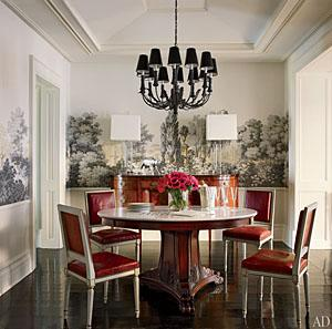The Shields-Henchy dining room. William Waldron/Architectural Digest