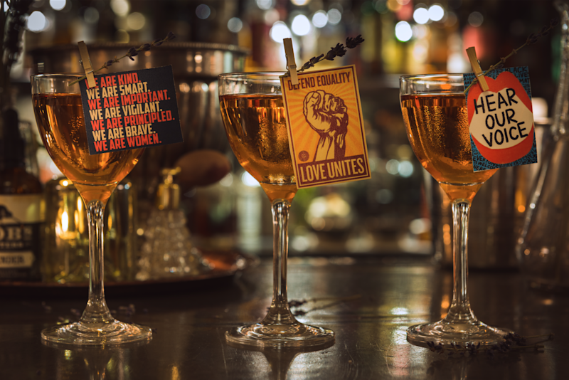 Sip in support: in Seven Dials, the Hawksmoor are serving up a suffragette cocktail
