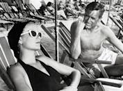 <p>Cary Grant and Grace Kelly film a scene for 1955's <em>To Catch a Thief</em>. </p>