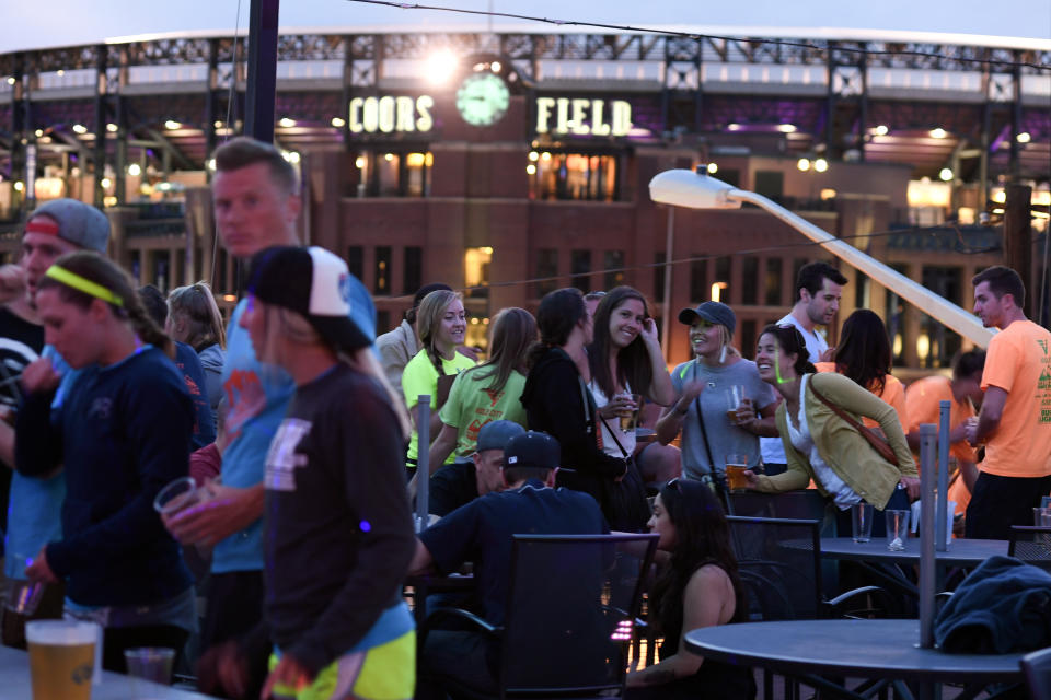 DENVER, CO - MAY 30: Patrons and Rockies fans take in the nightlife at LoDo's after the Colorado Rockies game on May 30, 2017. The Colorado Rockies' move to Lower Downtown was the spark that ignited Denver's LoDo boom. With the continuing build of lofts in the area, the nightclub scene, restaurants and mass redevelopment booms to this day. (Photo by John Leyba/The Denver Post via Getty Images)