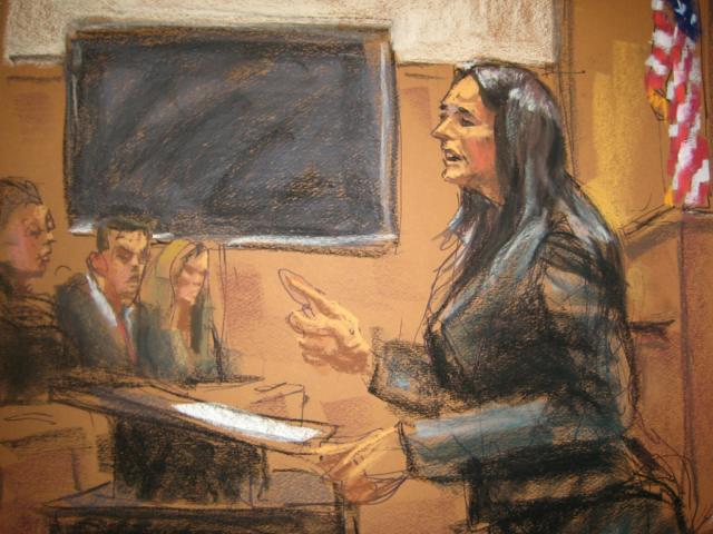 """Assistant District Attorney Joan Illuzzi-Orbon speaks during opening statements for the Etan Patz murder case at State Supreme Court in Manhattan in New York, January 30, 2015, in this courtroom sketch by Jane Rosenberg. The mother of Etan Patz, a boy whose disappearance from a New York City street in 1979 ignited a national movement to find missing children, will tell jurors at his accused killer's trial about the """"nightmare that never ended,"""" Illuzzi-Orbon said on Friday. REUTERS/Jane Rosenberg (UNITED STATES - Tags: CRIME LAW) ATTENTION EDITORS - THIS PICTURE WAS PROVIDED BY A THIRD PARTY. REUTERS IS UNABLE TO INDEPENDENTLY VERIFY THE AUTHENTICITY, CONTENT, LOCATION OR DATE OF THIS IMAGE. NO SALES. NO ARCHIVES. FOR EDITORIAL USE ONLY. NOT FOR SALE FOR MARKETING OR ADVERTISING CAMPAIGNS. THIS PICTURE IS DISTRIBUTED EXACTLY AS RECEIVED BY REUTERS, AS A SERVICE TO CLIENTS"""